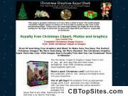 Christmas Clipart  - Vintage Victorian Modern Christmas Clipart and Graphics Package Royalty Free