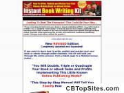 Book Writing how-to manual offering step-by-step system for writing books and/or ebooks and then publishing and marketing them online using digital download fulfillment and/or print-on-demand fulfillm