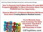 Finally! Discover How To Build A Towering Network Marketing Team!
