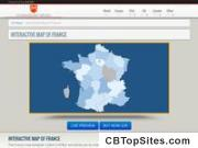 Interactive HTML5 Map of France Template