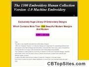 The 1300 Embroidery Hanan Collection Version -1.0 Machine Embroidery