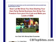 Start a Party Rental Business - Start a Party Rental Biz, Moonwalk Business, Bounce House Business