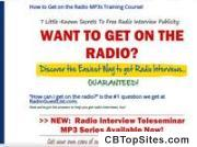 How To Get Radio Interviews Fantastic New Publicity Training Course!