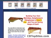 Download Plans to Make or build a marimba, vibraphone, xylophone, glockenspiel, metalophone