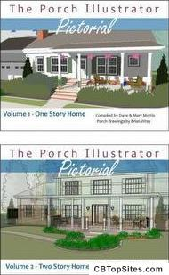 Porch Illustrator Pictorial - a picture eBook of front porch designs from many different angles