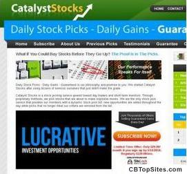 Welcome to Catalyst Stocks - Stock Pick Service, Stock Picks
